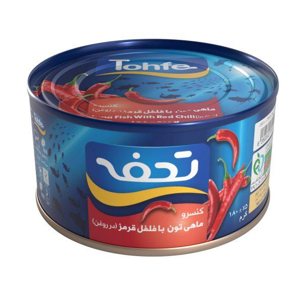 کنسرو تن ماهی هوور تحفه 180 گرمی فلفلی